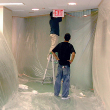 How to paint acoustic ceiling tiles